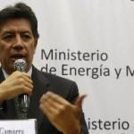 Ministro de Energía y Minas, Pedro Sánchez.