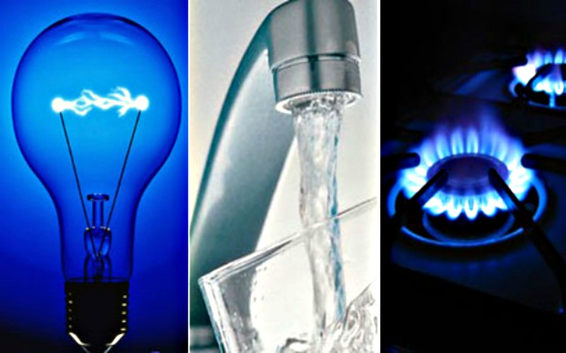 Electricidad, gas y agua muestra una variación positiva el mes de julio