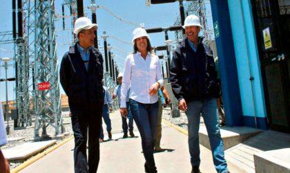 Ministra de Energía y minas inauguró el nuevo proyecto de la Línea de transmisión en Arequipa
