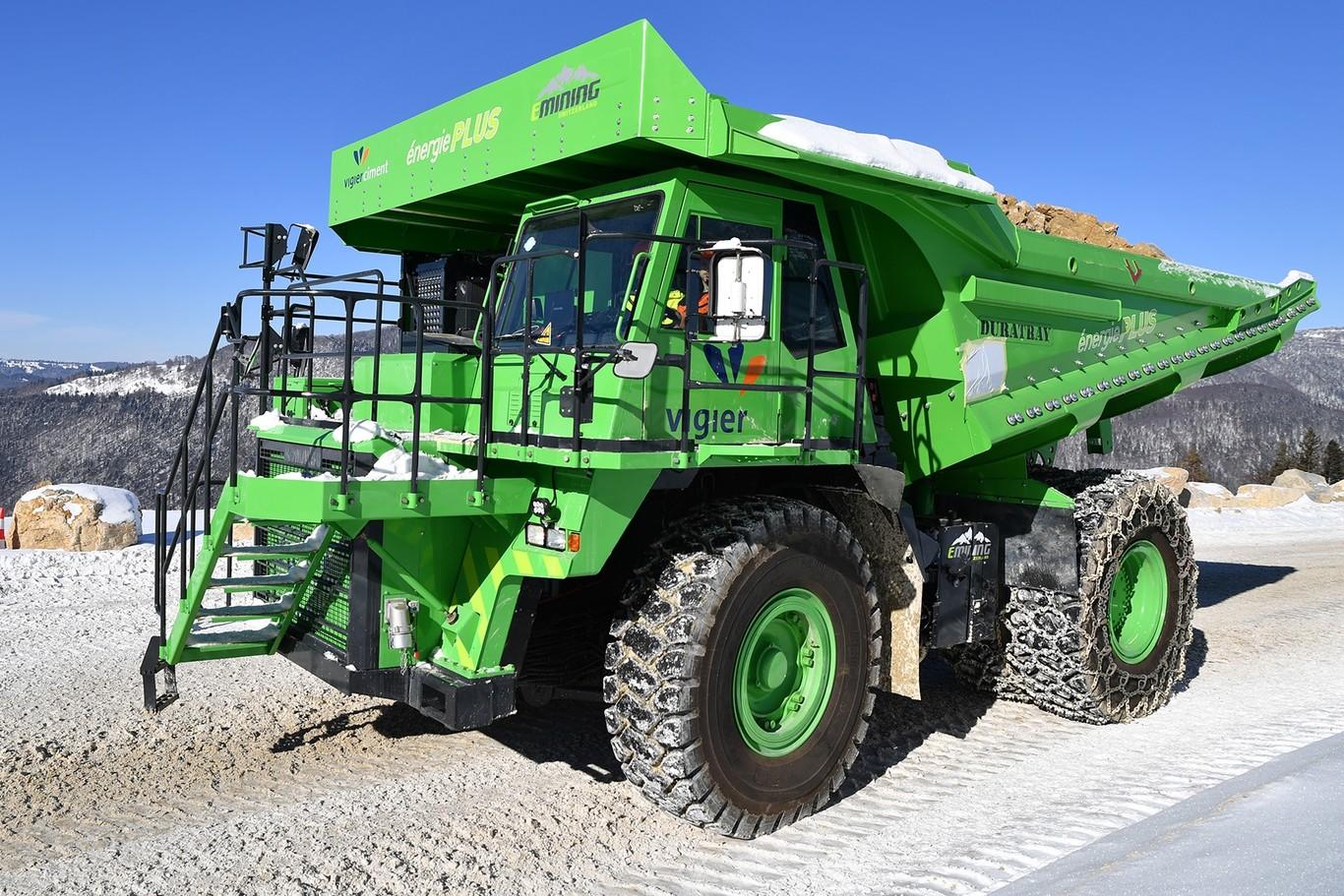 eDumper el vehículo eléctrico más grande para la industria minera